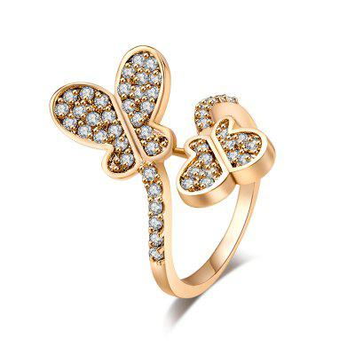 Fashion Micro-inlaid with the Exquisite Zircon Ring J0590