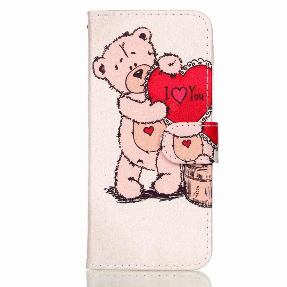 Flip Phone Case Cover for Samsung Galaxy S9 PU Flower Love Leather Card