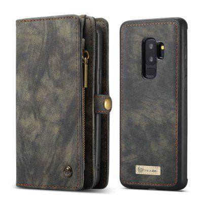 CaseMe for Samsung Galaxy S9 Plus Detachable Magnetic Wallet Leather Phone Case