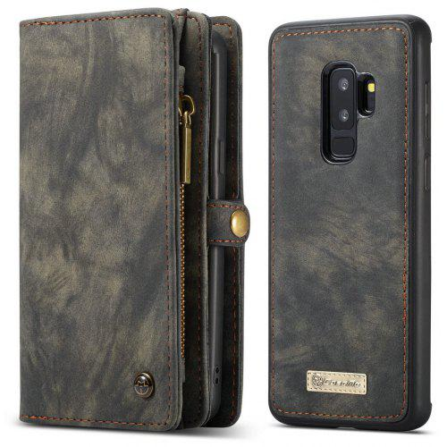 uk availability db558 59cd2 CaseMe for Samsung Galaxy S9 Plus Detachable Magnetic Wallet Leather Phone  Case