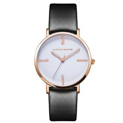 New 2018 Simple Fashion Leather Band Women Watch for Students
