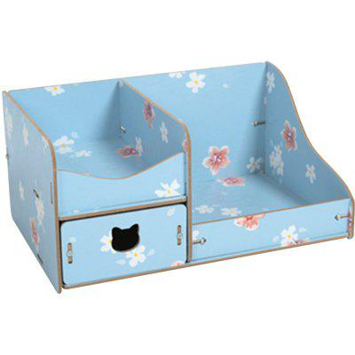 HECARE Make Up Organizer DIY Wood With Drawers Organizador de Maquiagem Rangement Wooden Box for Cosmetic Toy