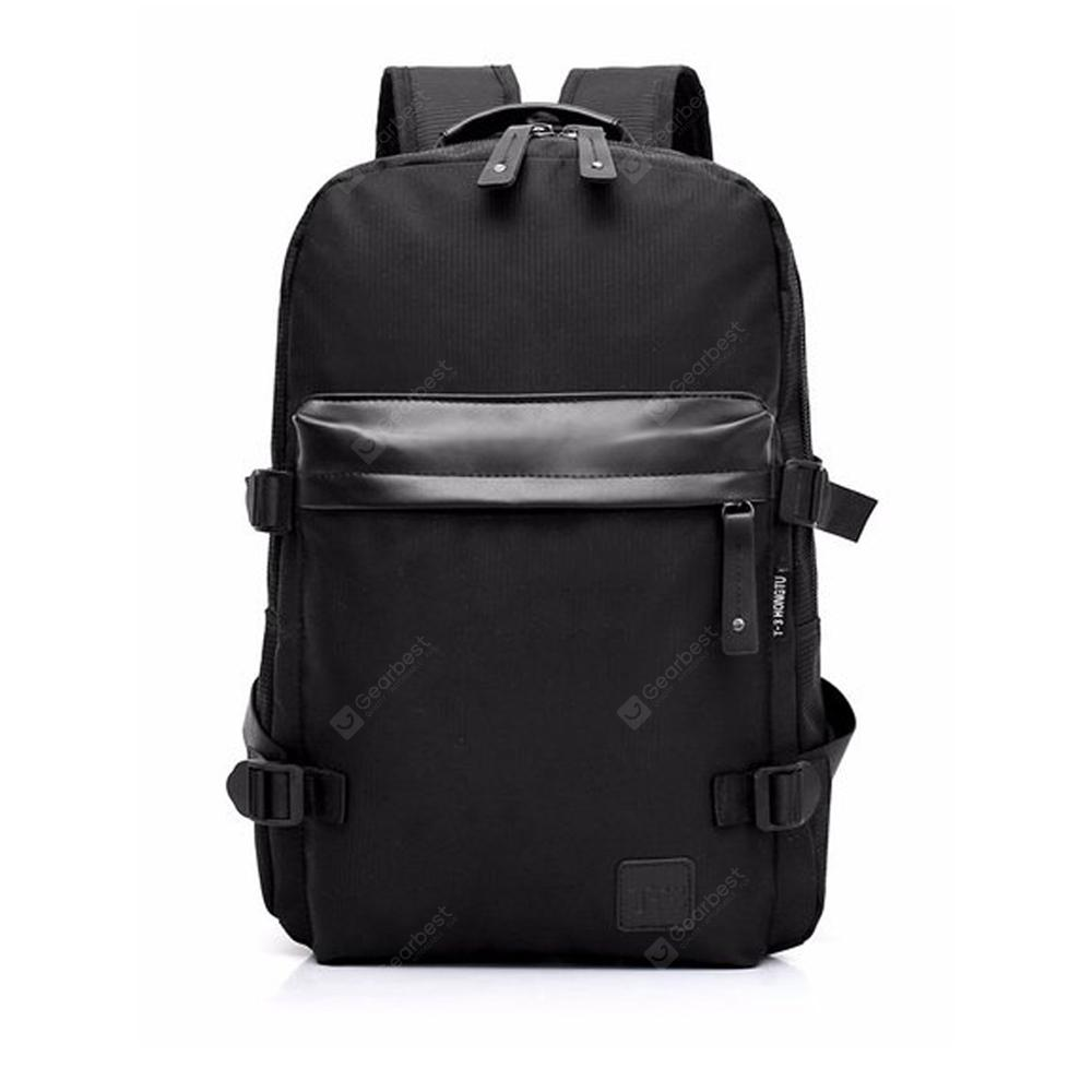 Canvas Laptop Backpack Two-Double Large Capacity Men School Unisex Travel Rucksack Knapsack