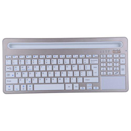 Wireless Bluetooth 3 0 Keyboard With Tablet Holder for iOS Android Windows  Mac O