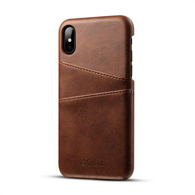 Suten for iPhone X Case Luxury Brand Leather With Card Cases Mobile Phone Shell Coque