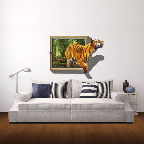 3d wall sticker tiger personality creative wall stickers - $19.03