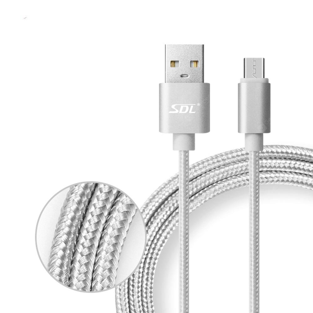 SDL Micro USB Data Sync Charging Cable Braided Line - 1m