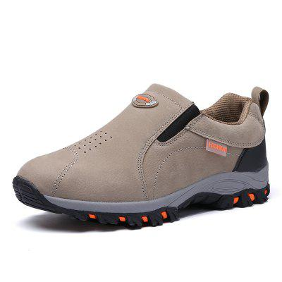 Men Casual Hiking Outdoor Slip on Suede Shoes