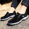 Men Casual Hiking Outdoor Slip on Suede Shoes - BLACK