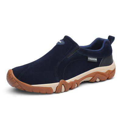 Men Casual Hiking Slip on Outdoor Suede Shoes