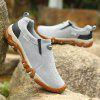 Men Casual Hiking Slip on Outdoor Suede Shoes - JET GRAY