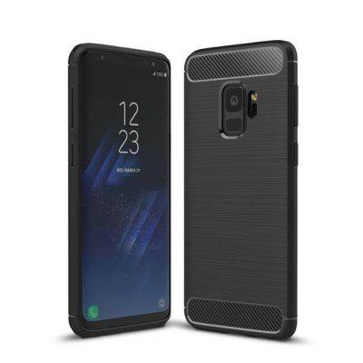 For Samsung S9 Case Carbon Fiber Scratch  Soft TPU Protective Cover