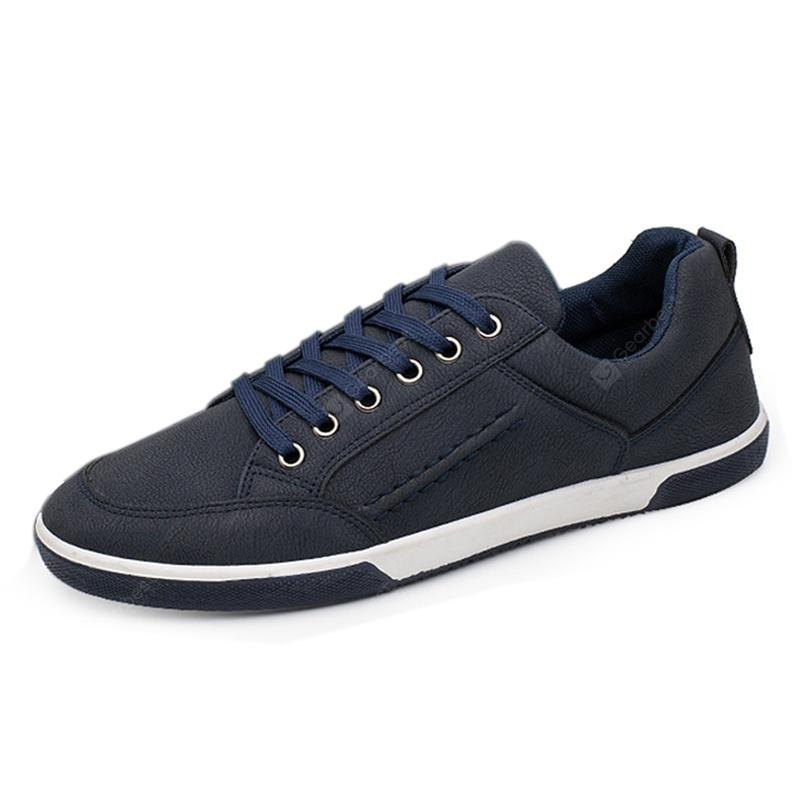 Men Fashion Low-top PU Leather Casual Shoes