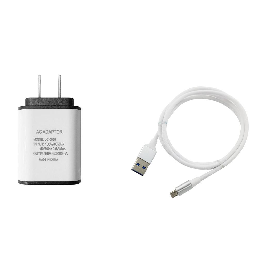 F121 Micro USB Cable Charger Portable Travel Wall Charger Adapter US Plug Phone