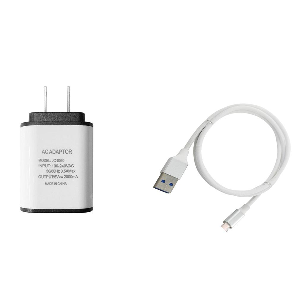 F121 Type-C USB Cable Charger Portable Travel Wall Charger Adapter US Plug Phone