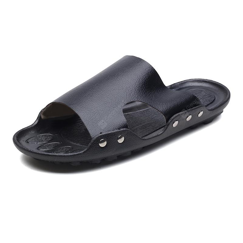 Fashion Genuine Leather Men Casual Slippers