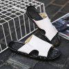 Fashion Genuine Leather Men Casual Slippers - WHITE