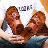 Men's Classic Fashion Leather Sandals - DEEP BROWN