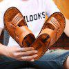 Men's Classic Fashion Leather Sandals - GINGER BROWN