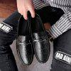 Men Driving Premium Genuine Leather Fashion Casual Slip On Loafers Shoes - BLACK