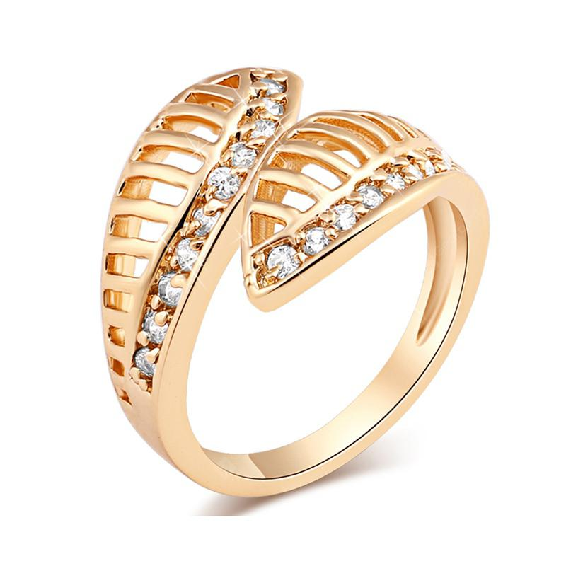 Micro-inlaid Endless Lovely Hollow Ring J0342