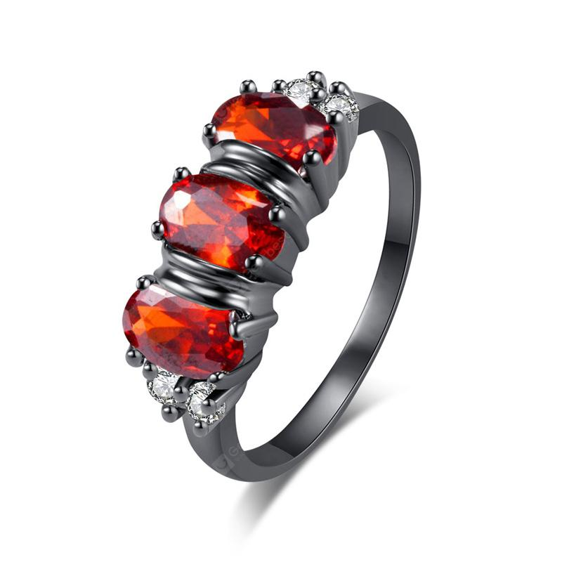 Lovely Caterpillar Zircon Ring J0376