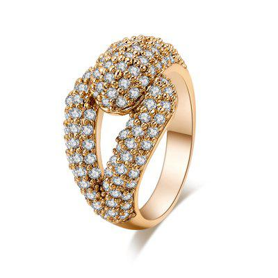 Fashion Micro-set Depend on the Exquisite Zircon Ring J0566