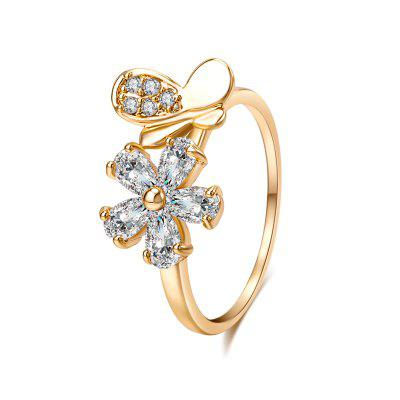 Fashion Micro-inlaid with the Delicate Zircon Ring J0729