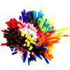 100 Pieces Pipe Cleaners Chenille Stems 6mm x 12 inch for Diy Art Craft - MULTI-A
