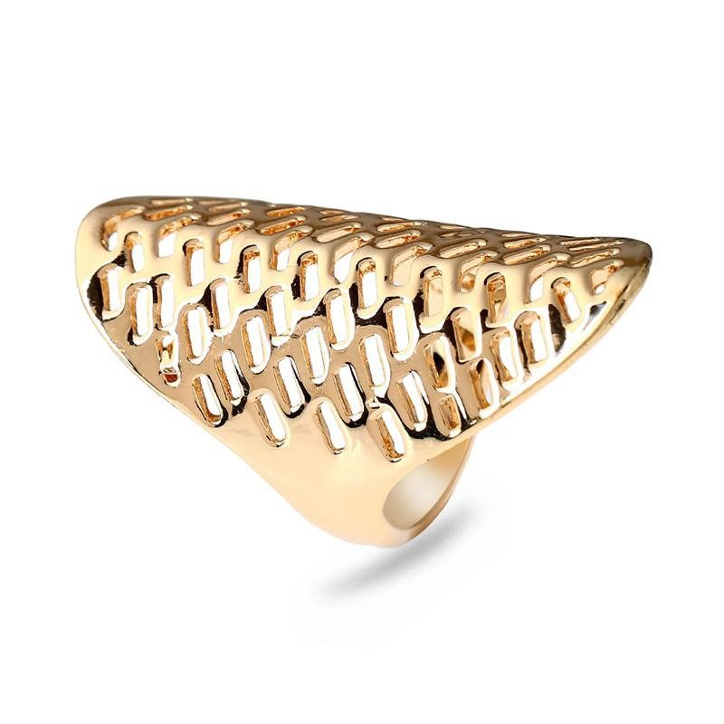 Golden Hollow Out Exaggerated Fashion Men'S Rings