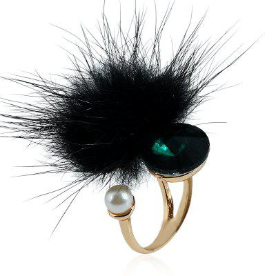 Créative Contracted Fashion Hair Bulb Crystal Ring