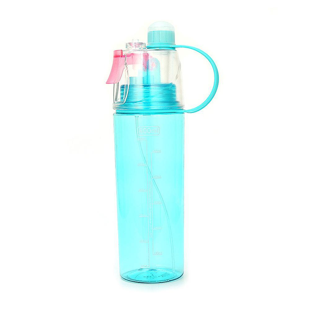 Sports Plastic Spray Cup Kettle Outdoor Cooling Water Bottle