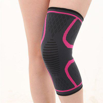 Three-color Four-way Elastic Non-slip Thermal Nylon Knitted Knee Pad