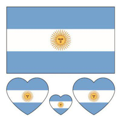 The Football World Cup Argentina Flag Body Tattoo Stickers