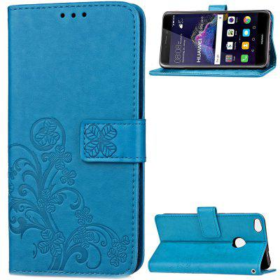 Lucky Grass Embossing Card Slot Wallet Cover Case for Huawei P8 Lite 2017