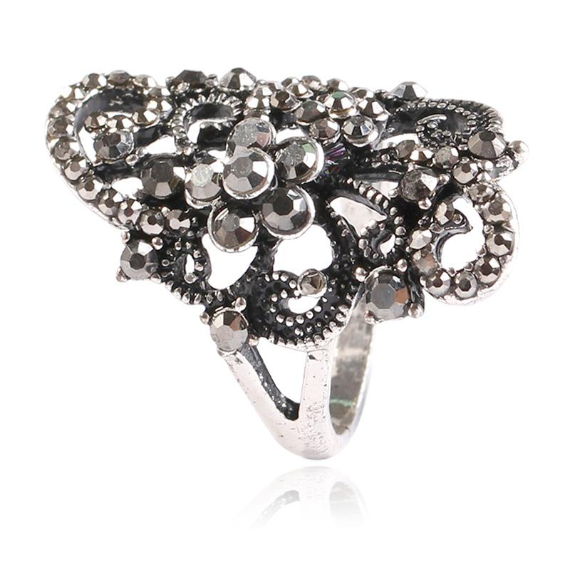 Popular High-end Creative Temperament Hollow Out Relief Index Finger Ring