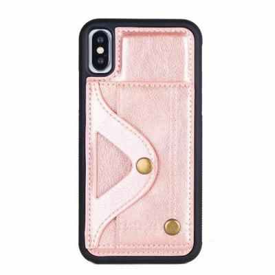 For iPhone X Luxury Mirror Card Slot Flip Cases Women Lovely Mobile Phone Case