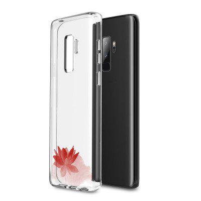Case for Samsung Galaxy S9 Plus TPU Soft Lotus Flower Pattern