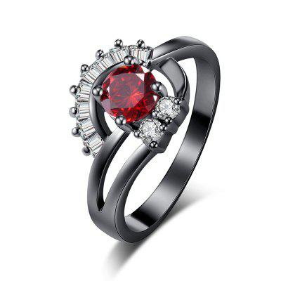 Fashion Sector Exquisite Zircon Ring J0852