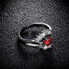 Fashion Sector Exquisite Zircon Ring J0852 - RED