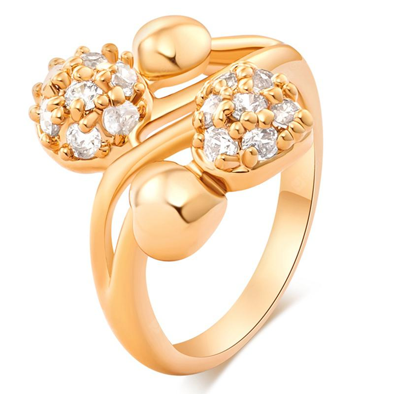 Fashion Micro-inset Round Delicate Zircon Ring J0859