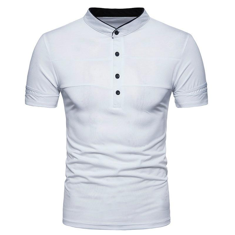 New Summer Men's Collar Short Sleeve Polo Shirt