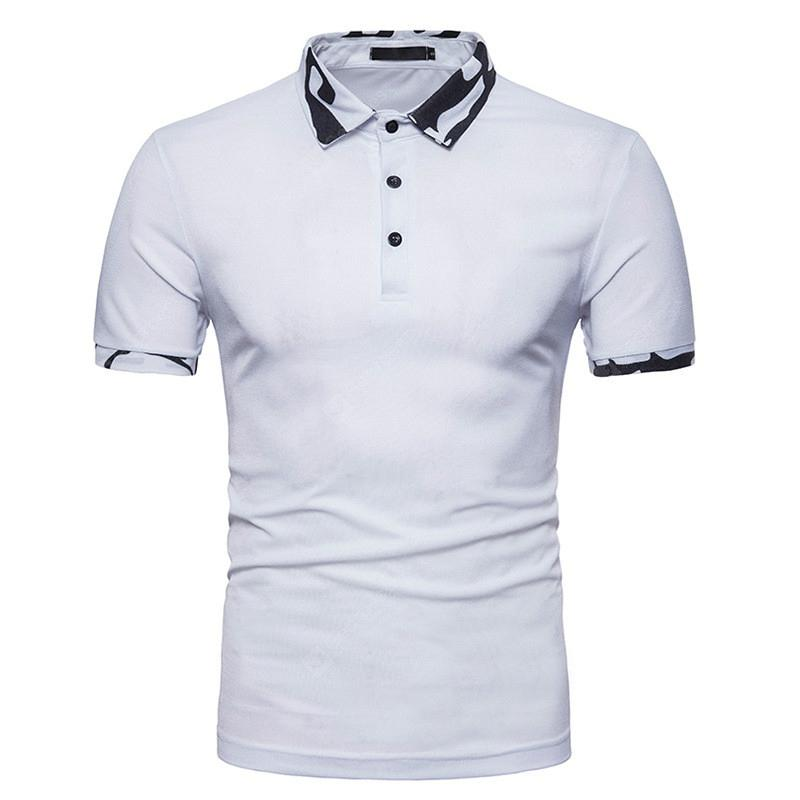 Summer New Men's Casual Short Sleeve Polo Shirt