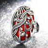 Bohemian Hollowed-out Set of European and American Vintage Rings - RED