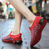 Flying Woven Respirable Mesh Stripes Chaussures Hommes - ROUGE RUBIS