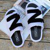 Men's Summer Slip Zorro Beach Slippers - BLACK