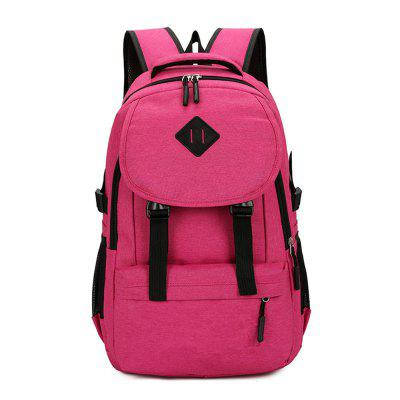 Fashion Simple and Stylish Large Capacity Men'S Canvas Travel Backpack Tide