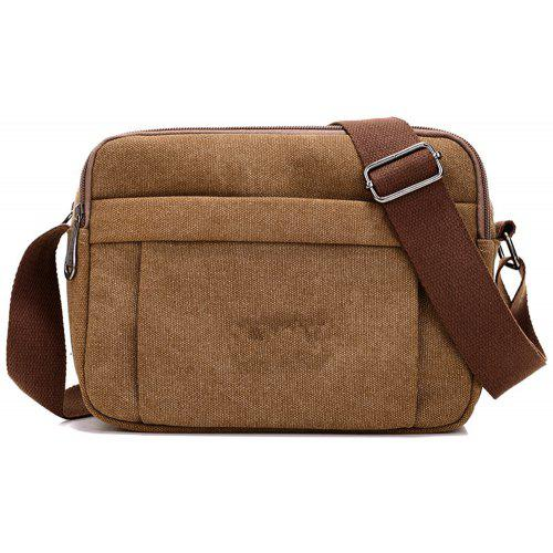 Fashionable Simple Men S Canvas Travel Outdoor Shoulder Messenger Bag -   13.76 Free Shipping c08c3c34cf715