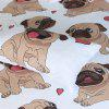 Hippie Pug Bedding 3pcs dekbedovertrek Set Digital Print - MULTI