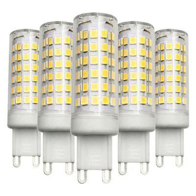 5PCS Ywxlight Dimmable G9 9W 76LED 2835SMD Led Ceramics Lamp AC 200 - 240V